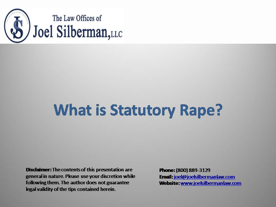 What is Statutory Rape