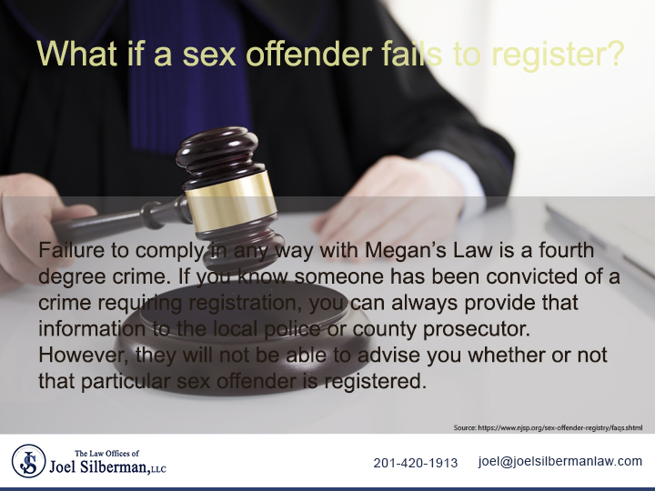 What if a sex offender fails to register?