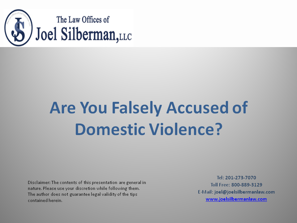 Are You Falsely Accused of Domestic Violence