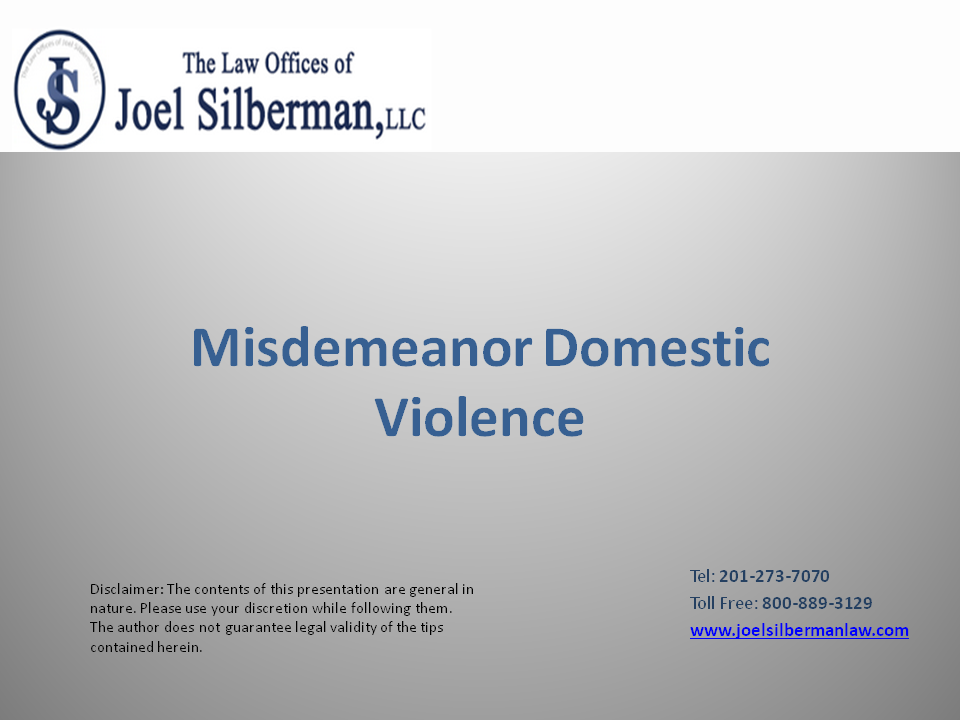 Misdemeanor Domestic Violence