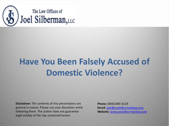Have You Been Falsely Accused of Domestic Violence?