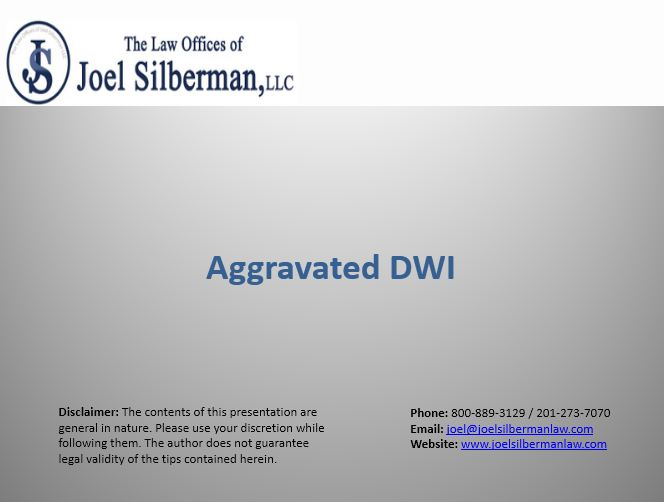 Aggravated DWI